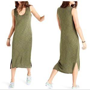 Madewell Jersey Tank Dress Olive Green Sz L